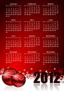 Calendar for 2012 year Royalty Free Stock Photography