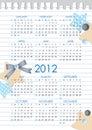 Calendar 2012 year Stock Photo