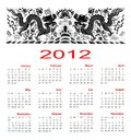 Calendar 2012 year Stock Images
