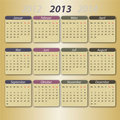 Calendar 2013, deutsch Stock Photography