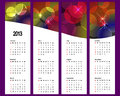 Calendar 2013 on vertical banners. Royalty Free Stock Image