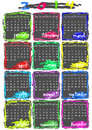 Calendar for 2014 year Royalty Free Stock Images