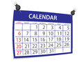 Calendar Royalty Free Stock Photography