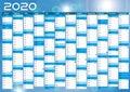 2020 calendar annual planner pocket business year vector