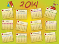 Calendar a annual template Royalty Free Stock Photos