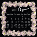 Calendar, april 2010 Royalty Free Stock Photo