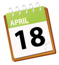 Calendar april Stock Image