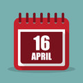 Calendar With 16 April In A Fl...