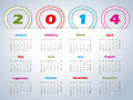 Calendar with balloon shaped ribbons design Stock Image