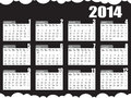 Calendar black white for the year of Stock Image