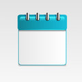 Calendar blank on white background Royalty Free Stock Image