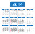 Calendar blue glossy for sundays first vector illustration Stock Images