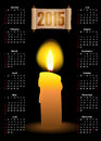 Calendar with a candle and scroll Royalty Free Stock Photo