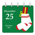 Calendar - Christmas Day Stock Images
