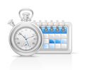 Calendar clock icon Royalty Free Stock Images