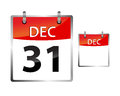 Calendar date december vector illustration of a new years eve Royalty Free Stock Photography