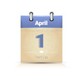 Calendar Date Page Fool Day 1 April