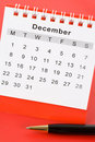 Calendar December Royalty Free Stock Photos