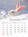 Calendar for december date theme Stock Image