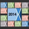 Calendar den år mallen modern orienteringssida Royaltyfria Bilder