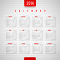 Calendar of design template Royalty Free Stock Photography