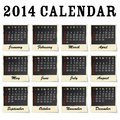 Calendar each month framed as a photo Royalty Free Stock Photos