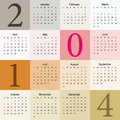 Calendar elegant pastel Royalty Free Stock Photo