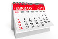 Calendar February 2013 Stock Photos