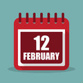 Calendar With 12 February In A...