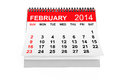 Calendar february year on a white background Stock Photography