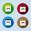 Calendar Flat Icon With April Royalty Free Stock Photo