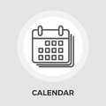 Calendar Flat Icon Royalty Free Stock Photo