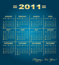 Calendar grid of 2011 year Royalty Free Stock Images