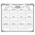 Calendar Grid 2014 Blank Templ...