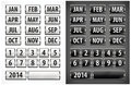 Calendar grid with numbers and months for designers vector illustration Stock Photo