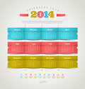 Calendar of with holidays icons temlate design Royalty Free Stock Photo