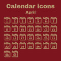 The calendar icon. April symbol. Flat Royalty Free Stock Photo