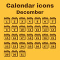 The calendar icon. December symbol. Flat Royalty Free Stock Photo