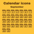 The calendar icon. September symbol. Flat Royalty Free Stock Photo