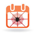 Calendar icon with spider Stock Image