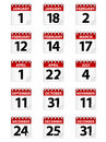 Calendar Icons EPS Royalty Free Stock Photo