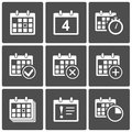 Calendar Icons set Stock Photos