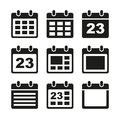 Calendar icons set day elements vector eps Stock Photos