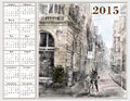 Calendar 2015 With Illustratio...