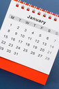 Calendar January Royalty Free Stock Photo