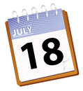 Calendar july Stock Image