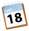 Calendar june Royalty Free Stock Photo