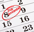 Calendar marked date marker job interview Stock Image