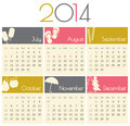 Calendar minimalist design for a july to december Stock Image