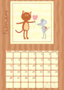 Calendar month of february Royalty Free Stock Photography